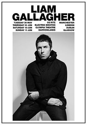 LIAM GALLAGHER As You Were 2017 UK Tour PHOTO Print POSTER Oasis Beady Eye 004