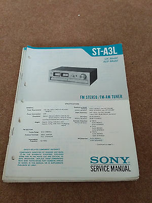 SONY ST-A3L STEREO TUNER original user SERVICE MANUAL