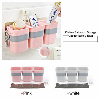 Kitchen Bathroom Storage Gadget Rack Basket Multi-Slots Bathroom Organizer SAS