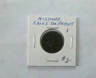 Missouri Sales Tax Receipt