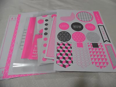 KIKKI K Pink & White Tags, envelopes, writing sheets and quote cards for Planner