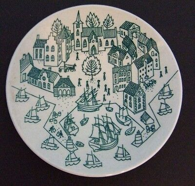 NYMOLLE ART FAiENCE PAUL HOYRUP PLATE MADE iN DENMARK LiMiTED EDiTiON 4006