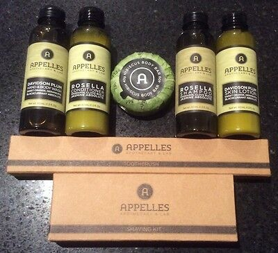 Appelles Travel Kit / 60ml Shampoo Conditioner Body Wash & Lotion / Soap & more!