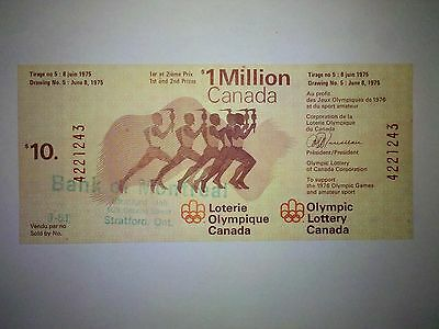 Olympic Lottery Canada June 8, 1975 Draw #5