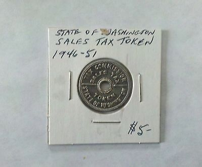 State Of Washington Sales Tax Token 1946-51