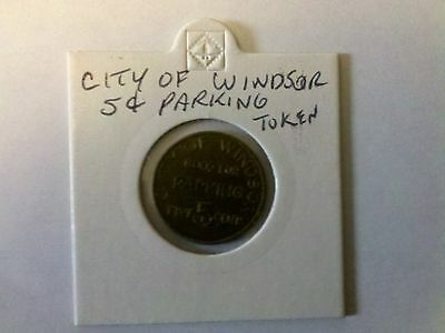 Windsor, ON 5 Cent Parking Token