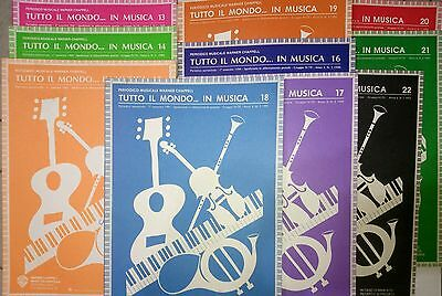Tutto Il Mondo In Musica (Lotto 10 Album) Spartiti Sheet