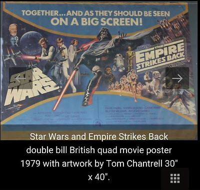 Star Wars / Empire Double Bill Original Poster 1979 Rolled