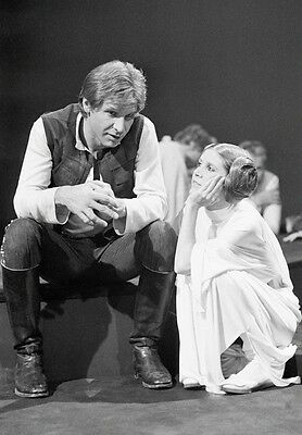 Carrie Fisher & Harrison Ford Star Wars 8.5x11 Portrait Photo Rare