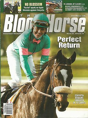 2010 - March 20th - Blood Horse Magazine - ZENYATTA on the cover