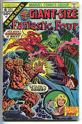 Giant Size Fantastic Four 6 1975 VG FN Annual 1st Fraknlin Richards Annihilus