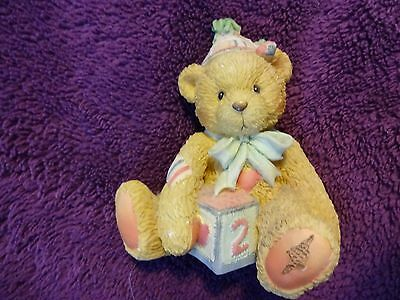 "CHERISHED TEDDIES AGE 2 FIGURINE- TOO SWEET TWO BEAR""  IN BOX 911321 Certificate"