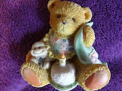 "CHERISHED TEDDIES AGE 1 FIGURINE ""Beary Special One"" IN BOX 911348 Certificate"