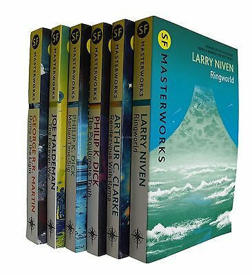 SF Masterworks 6 Book Collection Martin Dick Niven Classic Science Fiction New