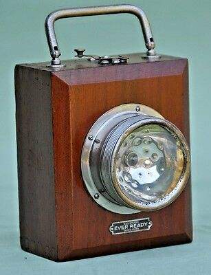 Vintage Ever Ready Wooden Cased Signal Torch Lamp Light Pat 1914?