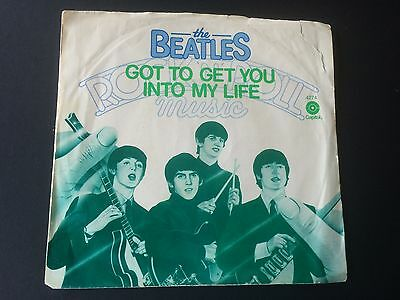 "THE BEATLES: PIC SLEEVE COPY of  ""GOT TO GET YOU INTO MY LIFE"" on US CAPITOL"