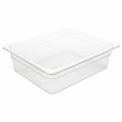 Vogue Polycarbonate 1/2 Gastronorm Container Clear Kitchen Food Storage Box