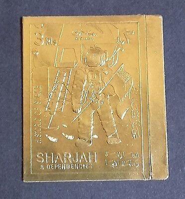 Timbre OR Neuf ** MNH ND ( GOLD stamp ) - Sharjah - Espace Space Apollo Ref 2
