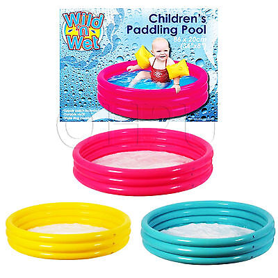 86cm Pool Kids Swimming Garden Play Children's Inflatable 3 Ring Small Paddling