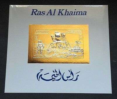 Bloc OR Neuf ** MNH ( GOLD stamp ) - Ras Al Khaima - Espace Space Apollo