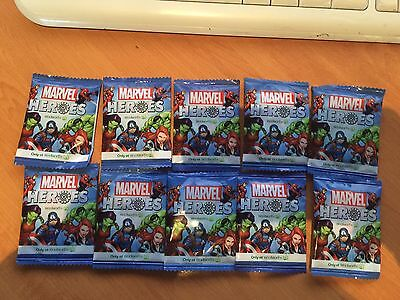100 Woolworths MARVEL HEROES DISCS Unopened in SEALED Packets Bulk Lot