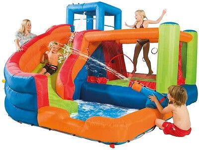 Outdoor Kids Soft Play Centre Bouncy Castle Equipment Water Slide Swimming Pool