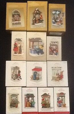 Hallmark~ Lot of 13 Ornaments~ 2003-2015 Christmas Windows Complete Series ~ NIB