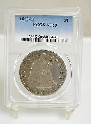 1850-O Liberty Seated Dollar - PCGS AU50 (#5609)
