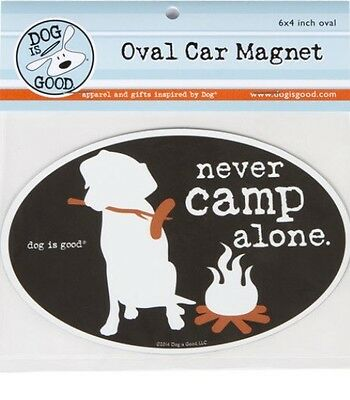 Never Camp Alone Car Magnet