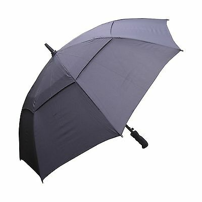 RainStoppers W016B Auto Open Windbuster Sport Umbrella 48-Inch (Black) Bl... New
