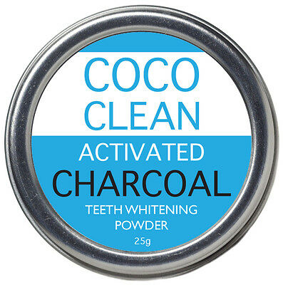CocoClean Activated Coconut Charcoal Teeth Whitening Powder 25g - 100% Natural
