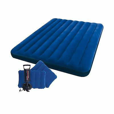 Intex Classic Downy Airbed Set with 2 Pillows and Double Quick Hand Pump ... New