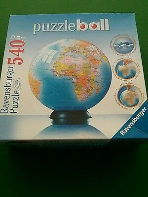Ravensburger 3D Puzzleball World Globe Jigsaw Puzzle 540 Pieces With Stand