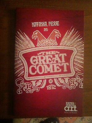 Natasha, Pierre and the Great Comet of 1812 playbill/program A.R.T pre NYC 2016