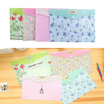 1pc A4 PVC Bag Document Paper School Office Supplies File Folder Bag Stationery