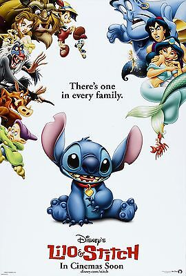 LILO AND STITCH LAMINATED MINI A4  MOVIE POSTER  DISNEY style 1