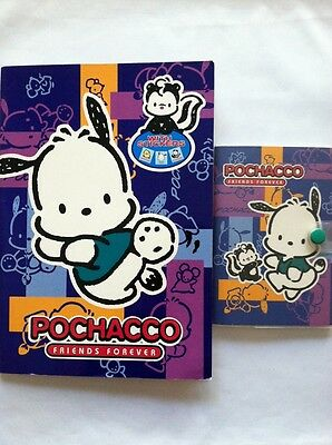 Sanrio Pochacco 1998 Friends Forever Notes & Address Book Set & Large Notebook
