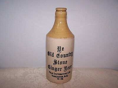 Ye Old Country Stone - Crock Ginger  Beer Bottle - Vancouver Bc