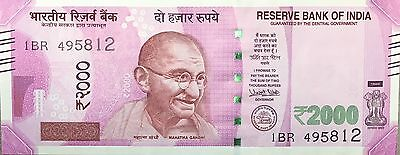 "INDIA ""Rupees 2000 Banknote 2017 NEW Currency Bill UNCIRCULATED"""