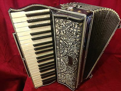 Vintage Pre-War Piano Accordion Excelsior Special LMMM41/120 FOR PARTS OR REPAIR