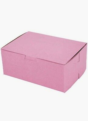 20 Bakery Pink Cake Bakery Box 7 x 5 x 3  Made in USA Boxes