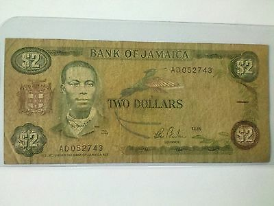 Jamaica 1985 Two  Dollars  P69a