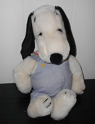 Vintage Snoopy 18 inch Plush Stuffed Animal 4401 Engineer Outfit Wardrobe
