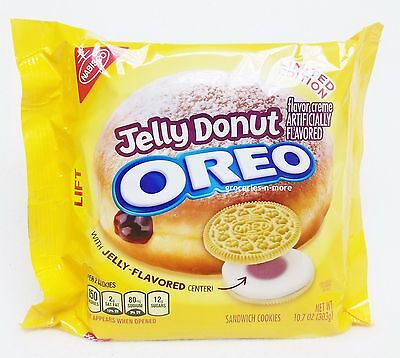 Nabisco JELLY DONUT OREO Cookies LIMITED EDITION -NEWEST FLAVOR! -IN STOCK!!!