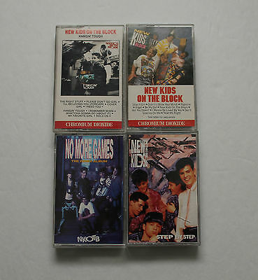 New Kids on The Block Cassette Tapes - Lot of 4