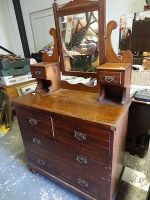 vintage early 20th century dressing table with mirror