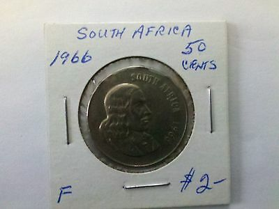 South Africa 1966 50 Cents