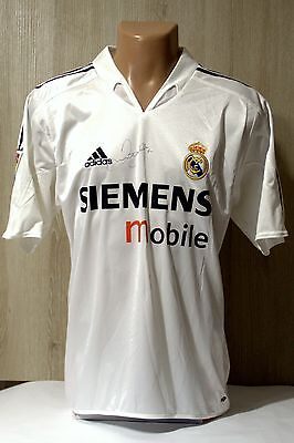 Real Madrid 2004 2005 Beckham #23 Signed Football Soccer Shirt Jersey Adidas M