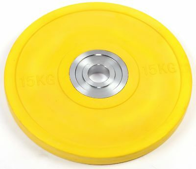 NEW 15kg PRO Olympic Rubber Bumper Weight Plate