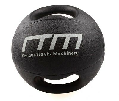 NEW 10Kg Double-Handled Rubber Medicine Core Ball